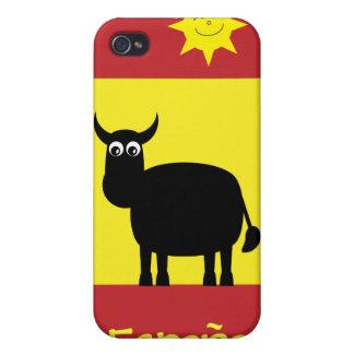 Cute Spanish Bull, Sun & Flag iPhone 4 Cases