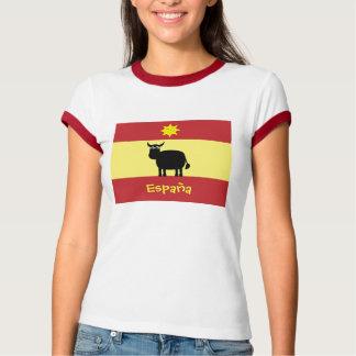 Cute Spanish Bull, Sun & Flag T-Shirt