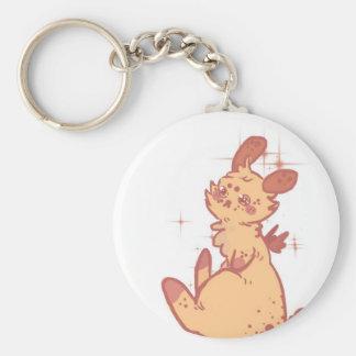 Cute Sparkling Rabbit (closeup) Keychain