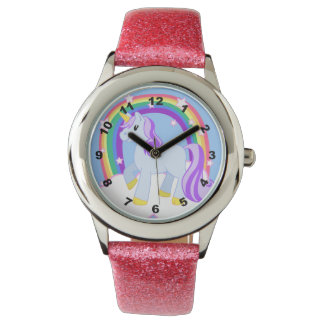 Cute Sparkly Unicorn with Rainbow Watch