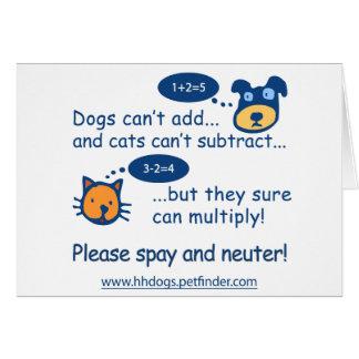 Cute Spay or Neuter Design Cards