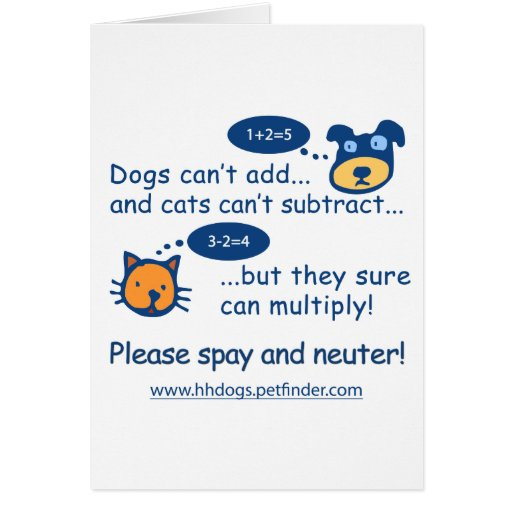Cute Spay or Neuter Design Greeting Cards