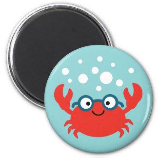 Cute Specky Crab Illustration Magnet