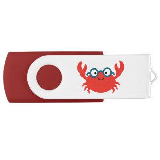 Cute Specky Crab Illustration USB Flash Drive