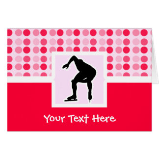 Cute Speed Skater Greeting Card