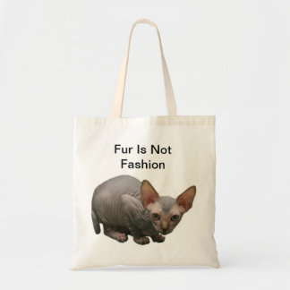 Cute sphynx kitten tote bag
