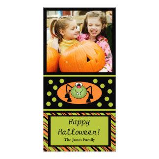 Cute Spider Halloween Kids Photo Card