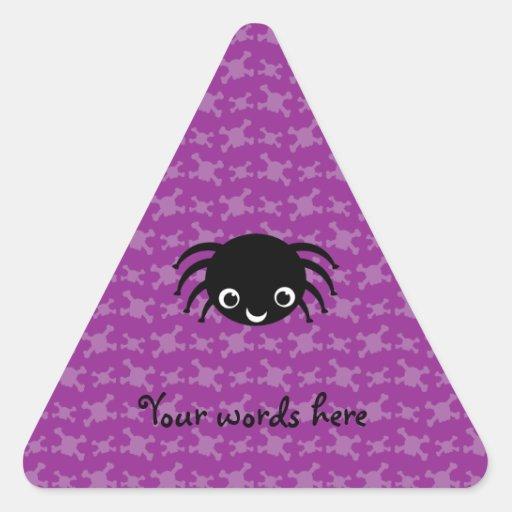 Cute spider purple skulls pattern stickers