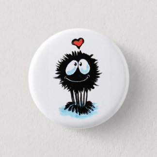 Cute Spider Shares the Love! 1 Inch Round Button