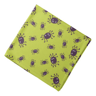 Cute spiders pattern bandana