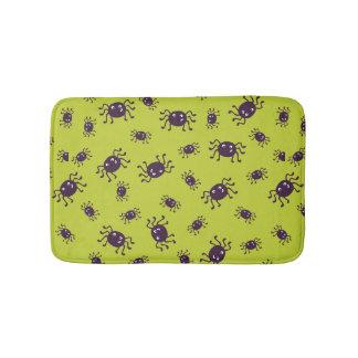 Cute spiders pattern bath mat