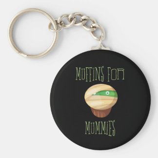 Cute & Spooky Muffins for Mummies Keychain