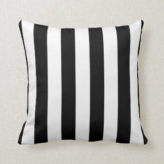 Cute Sporty Referee Stripes Throw Pillow