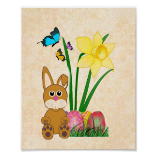 Cute Spring / Easter Print Glossy Poster