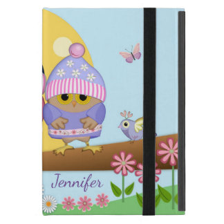 Cute spring owls and custom name case for iPad mini