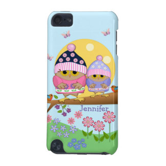 Cute spring owls and custom name iPod touch (5th generation) cases
