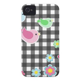 Cute spring plaid pattern Case-Mate iPhone 4 case