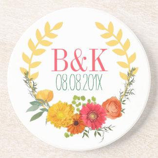 Cute Spring Watercolors Spring Flowers Drink Coaster