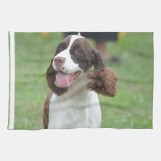 Cute Springer Spaniel Kitchen Towel