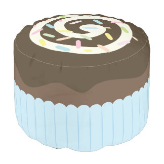 Cute Sprinkled Chocolate Cupcake Pouf