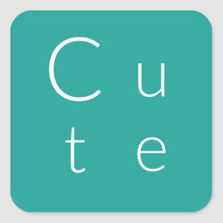 Cute Square Sticker