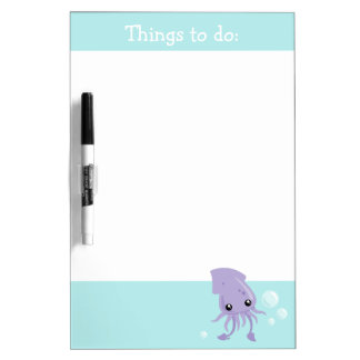 Cute Squid Dry Erase Board