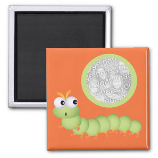 Cute Squiggly Worm Photo Magnet