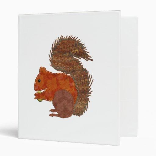 Cute Squirrel Applique Binders