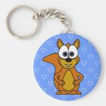 Cute Squirrel Cartoon Key Chain