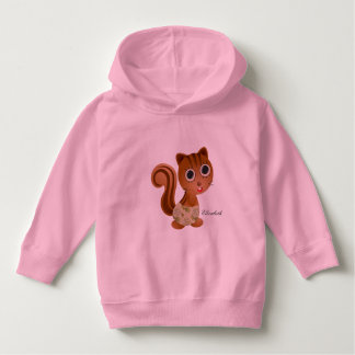 Cute Squirrel Girl Elizabe Toddler Pullover Hoodie