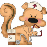 Cute Squirrel Nurse Sculpture Acrylic Cut Out