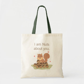 Cute Squirrel Nuts About You Pun Love Humor