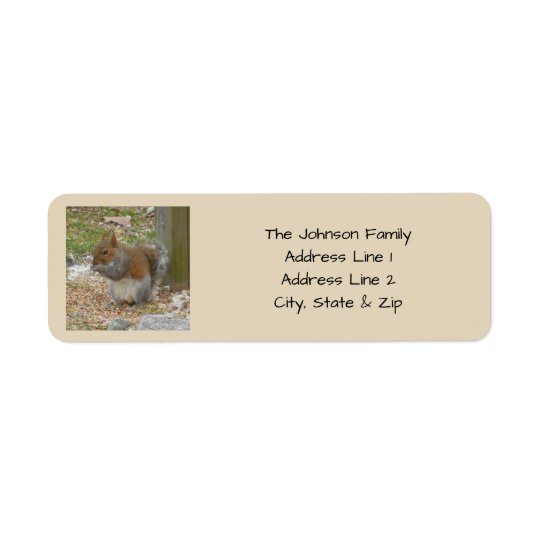 Cute Squirrel Return Address Labels