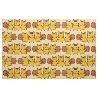 Cute Squirrels Pattern Graphic Fabric