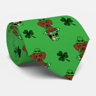 Cute St. Patrick Day Dachshund Tie