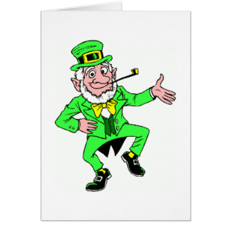 Cute St Patrick s Day Dancing Leprechaun Cards