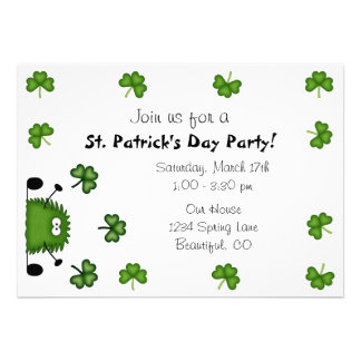 Cute St Patrick s Day Party Invitation