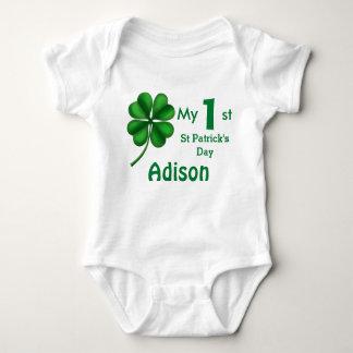 Cute St Patrick's Day Baby Boy or Girl Shamrock Baby Bodysuit