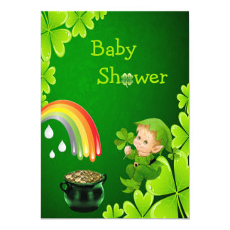 Cute St. Patrick's Day Baby Shower Card