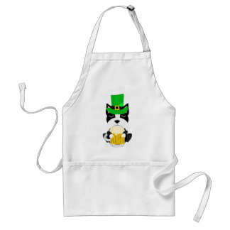 Cute St. Patrick's Day Boston Terrier Dog Standard Apron
