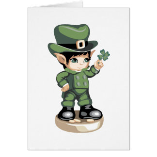 """Cute St Patrick's Day Card .""""See a Clover"""""""