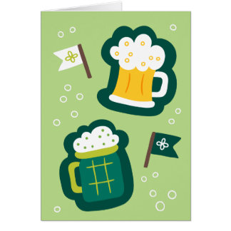 Cute St. Patrick's Day Have a Drink on Us Card
