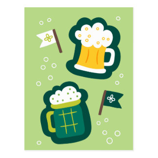 Cute St. Patrick's Day Have a Drink on Us Postcard