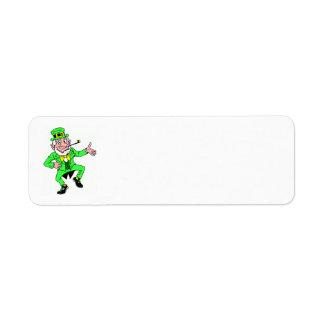Cute St. Patrick's Day | Leprechaun Jig Return Address Label