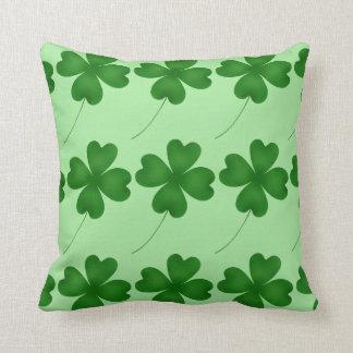 Cute St. Patrick's Day lucky shamrocks Throw Pillow