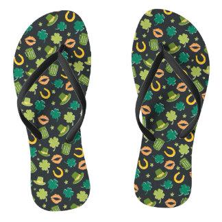 Cute St Patrick's Day Pattern Flip Flops
