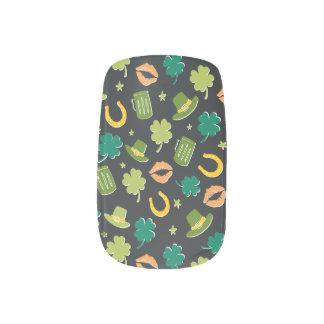 Cute St Patrick's Day Pattern Minx Nail Art