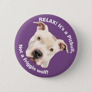 Cute Staffordshire Terrier Pitbull Puppy 2 Inch Round Button