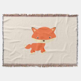 Cute Standing Fox Throw