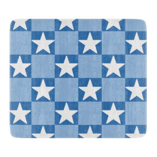 Cute star checkerboard pattern cutting board